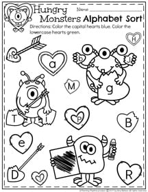 graphic about Preschool Valentine Printable Worksheets referred to as February Preschool Worksheets - Building Playtime