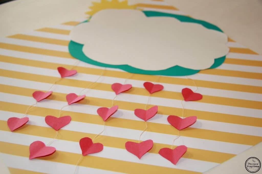 It's Raining Hearts - Cute Valentine's Day craft for kids.
