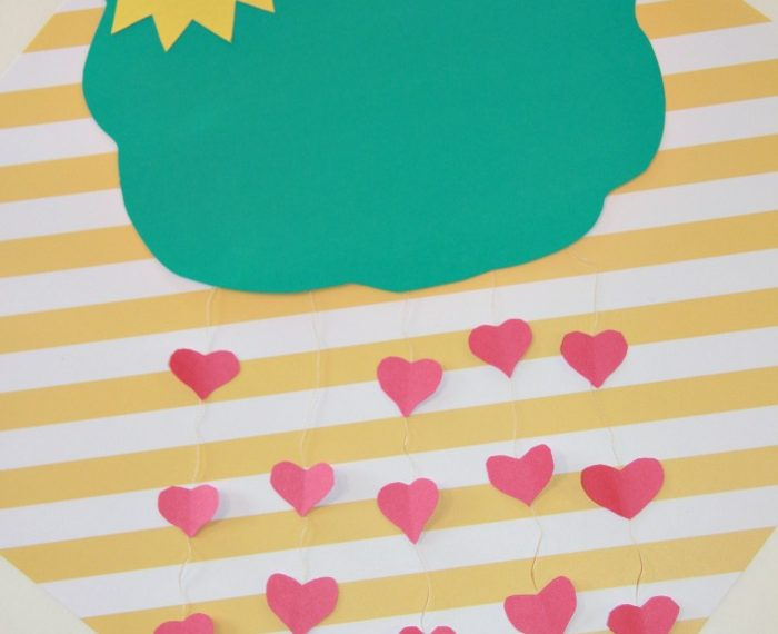 It's Raining Hearts Valentine's Day Craft for kids - So fun.