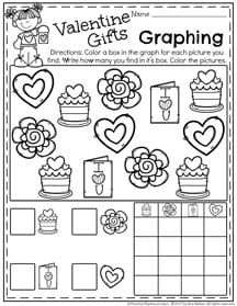Preschool Graphing Worksheets for February