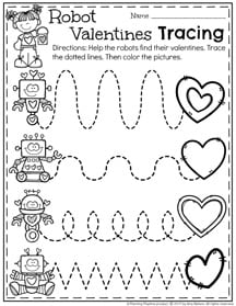 picture relating to Valentines Printable Activities known as February Preschool Worksheets - Coming up with Playtime