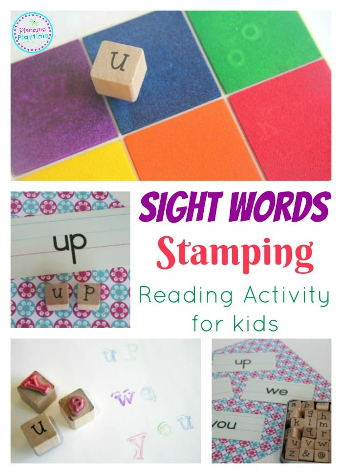 Sight Words Stamping Activity for kids.
