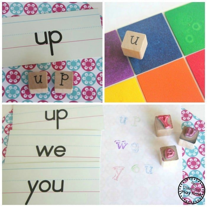 Sight Words Stamping Reading Activity for kids.