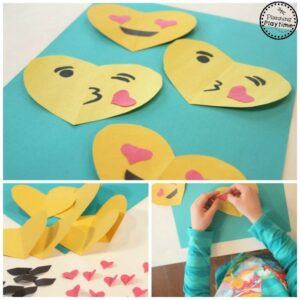 Simple DIY Emoji Valentines for Kids