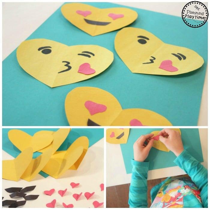 Simple DIY Emoji Valentines for Kids