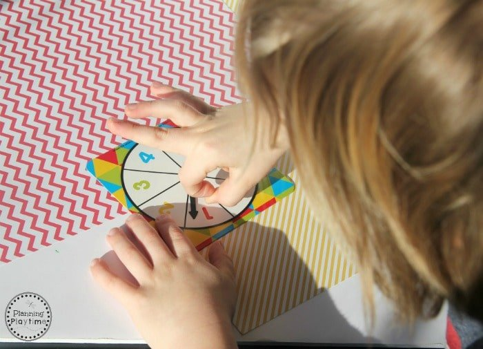 Spin and Add Math Activity for kindergarten. So fun!