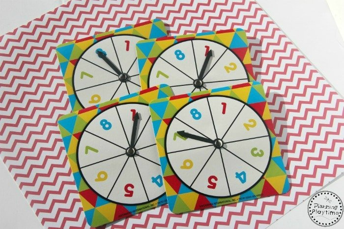 Spin to Add Math Activity for Kindergarten Number Spinners.