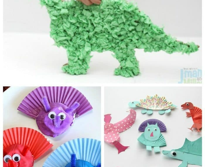 Super fun Dinosaur Crafts for kids - fun for preschool and kindergarten.