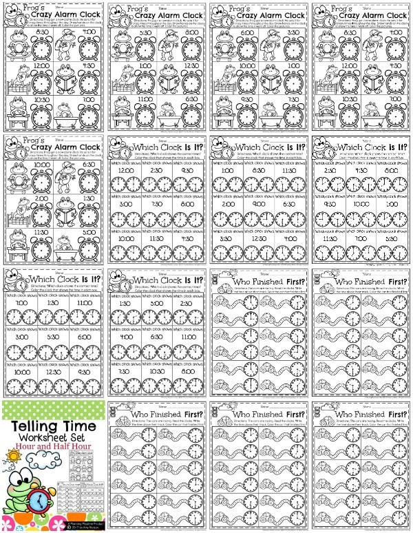 Telling Time Worksheets Planning Playtime. Telling Time Worksheets For First Grade So Fun And Educational. Worksheet. Fun Worksheet On Time At Clickcart.co