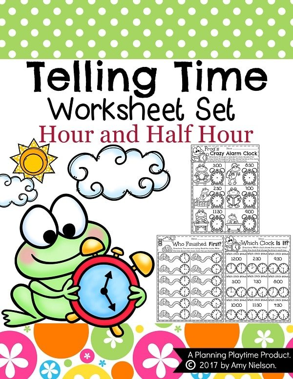 Telling Time Worksheets Planning Playtime – Telling Time Worksheets Kindergarten