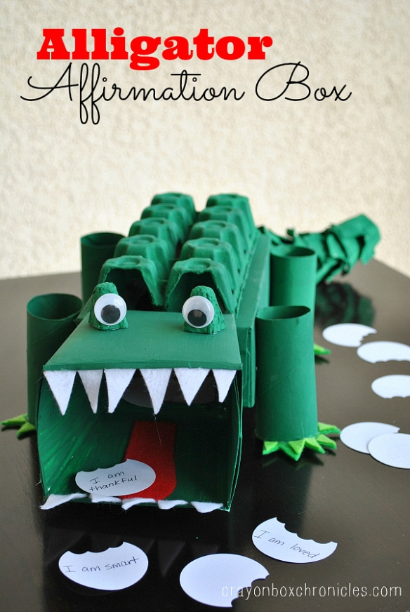 Awesome Alligator Valentines Box for Kids.