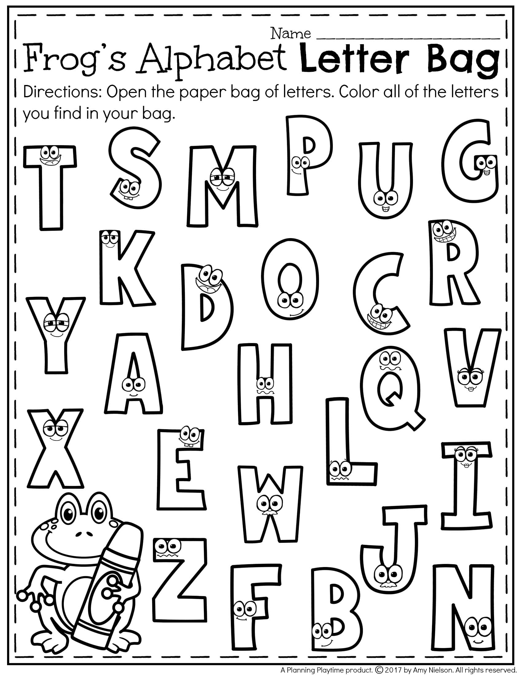 Free letter recognition worksheet