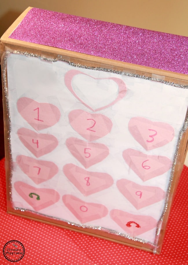 Cell Phone Valentines Box for kids.