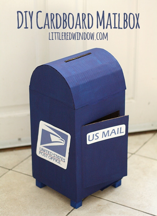 Cute Blue Valentines Mailbox for boys.