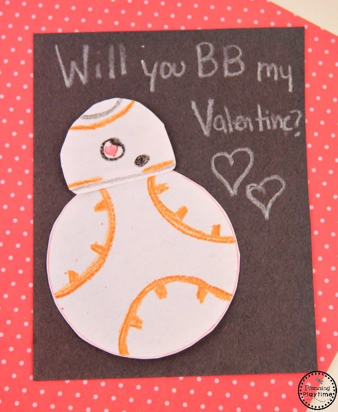 DIY BB8 Valentine from Star Wars - Will you BB Mine