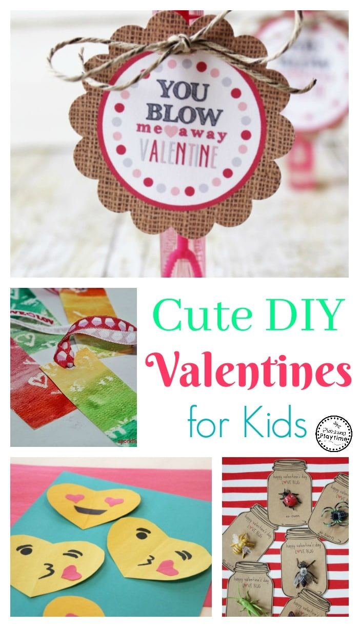 Cute DIY Valentines for Kids - Planning Playtime