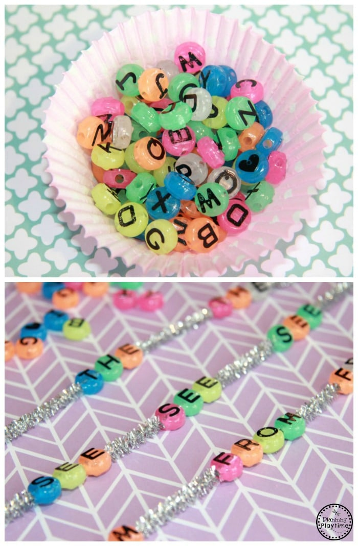 Fun Sight Words Beading Activity for Kids.