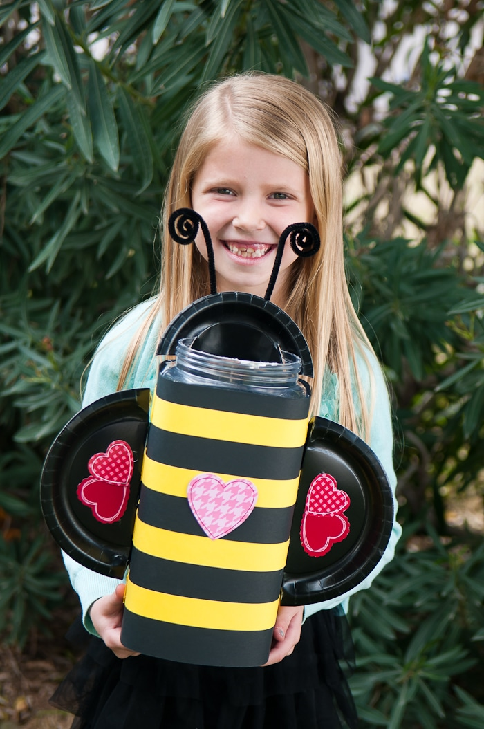 Honey Bee Valentines Box for kids.