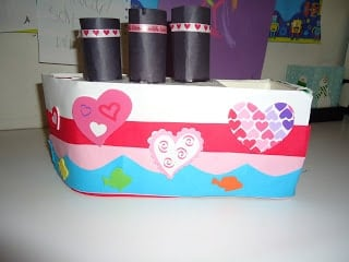 Love Boat Valentines Box for kids.