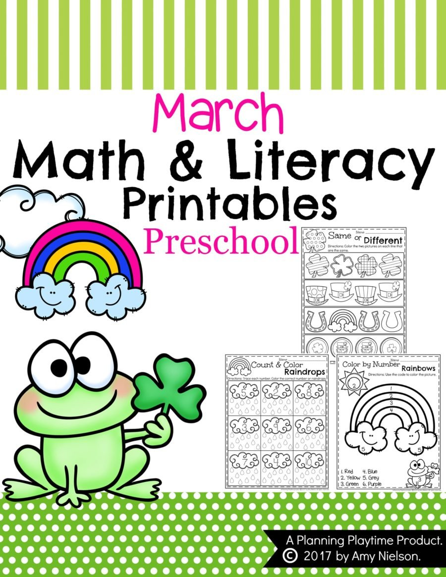 - March Preschool Worksheets - Planning Playtime