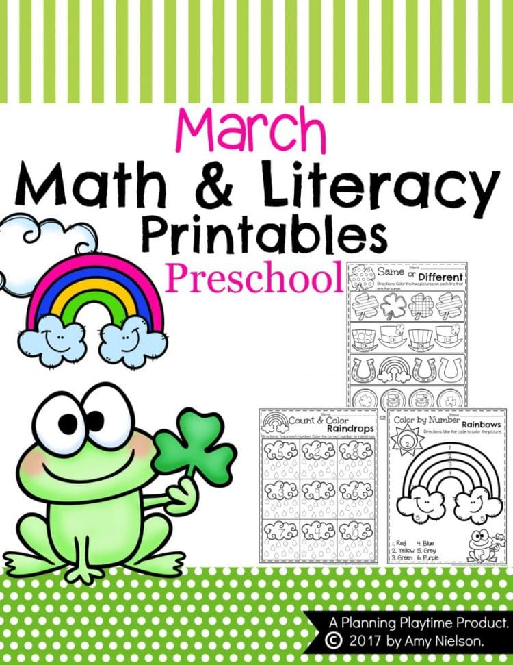 March Preschool Worksheets - Planning Playtime