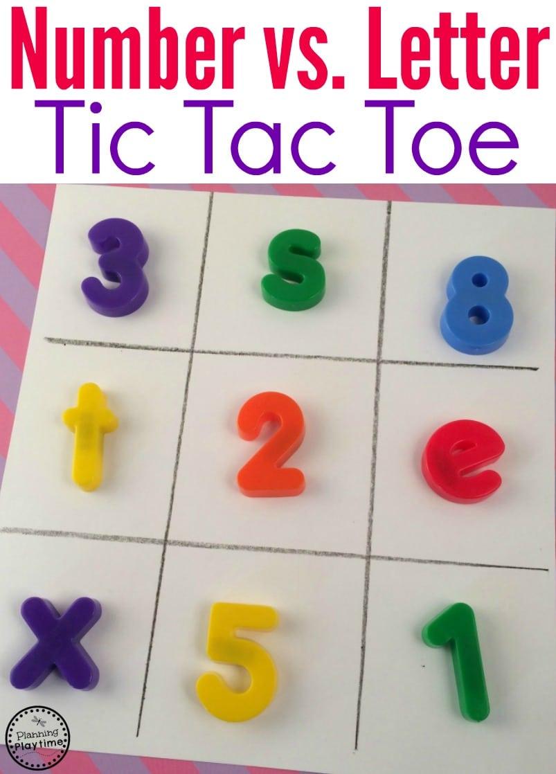 Preschool Letter Recognition Activity - Number vs. Letter Tic Tac Toe