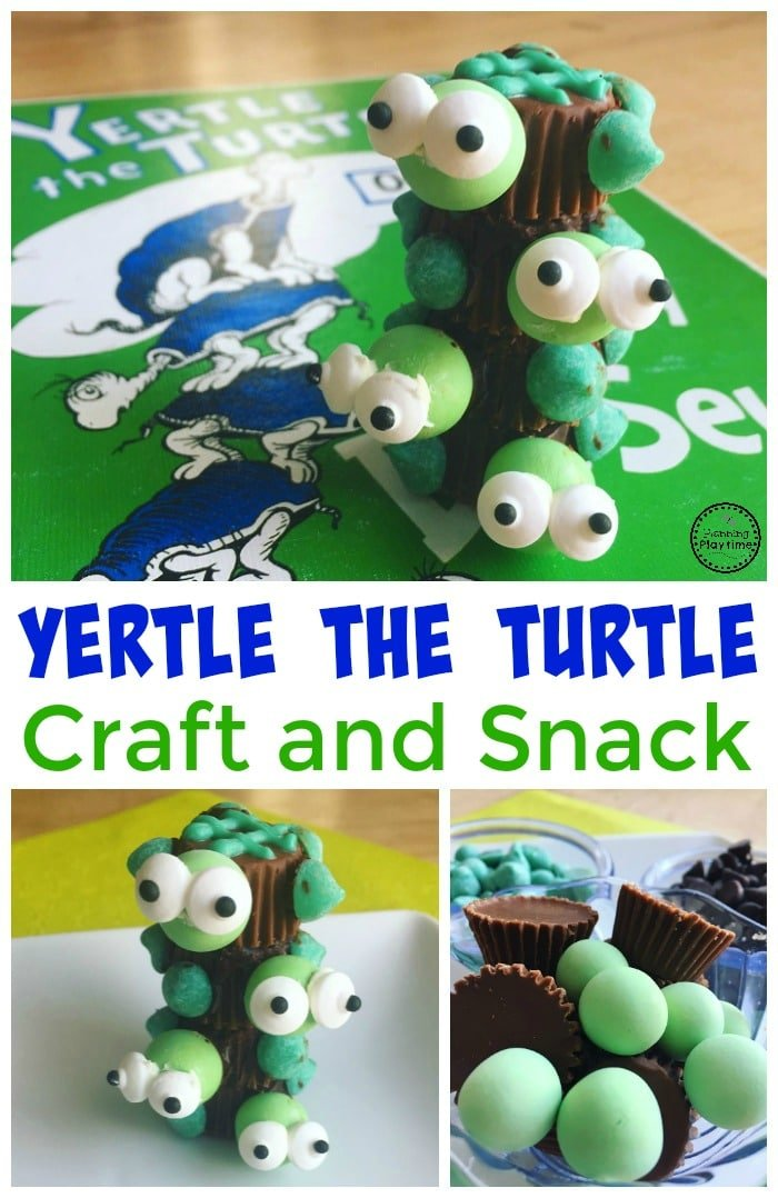 Yertle the Turtle Craft for Dr. Seuss Day.