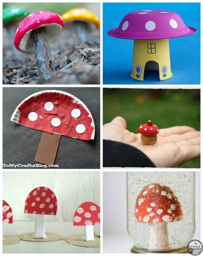 10 Spring Mushroom Crafts for kids.