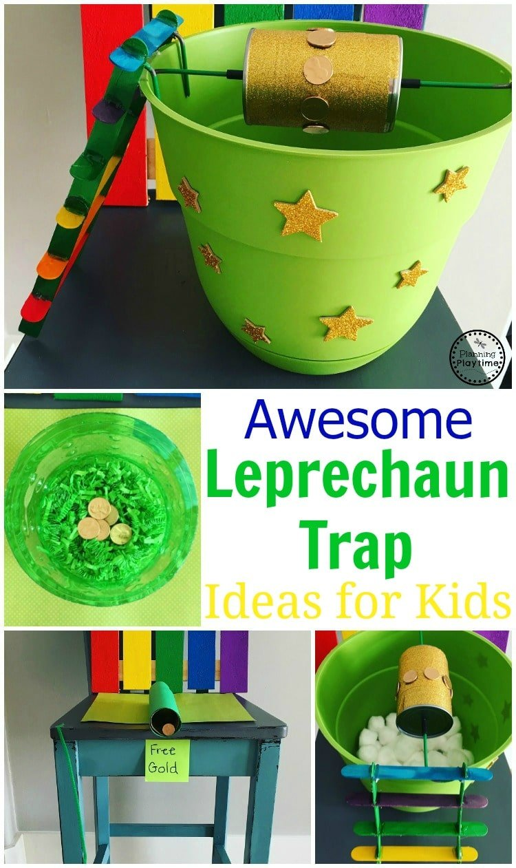 Awesome Leprechaun Trap ideas for kids.