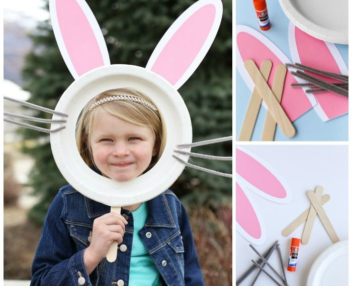 Bunny Mask Craft for kids.