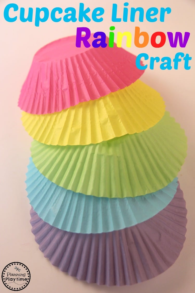 Cupcake Liner Rainbow Craft for Kids - Planning Playtime
