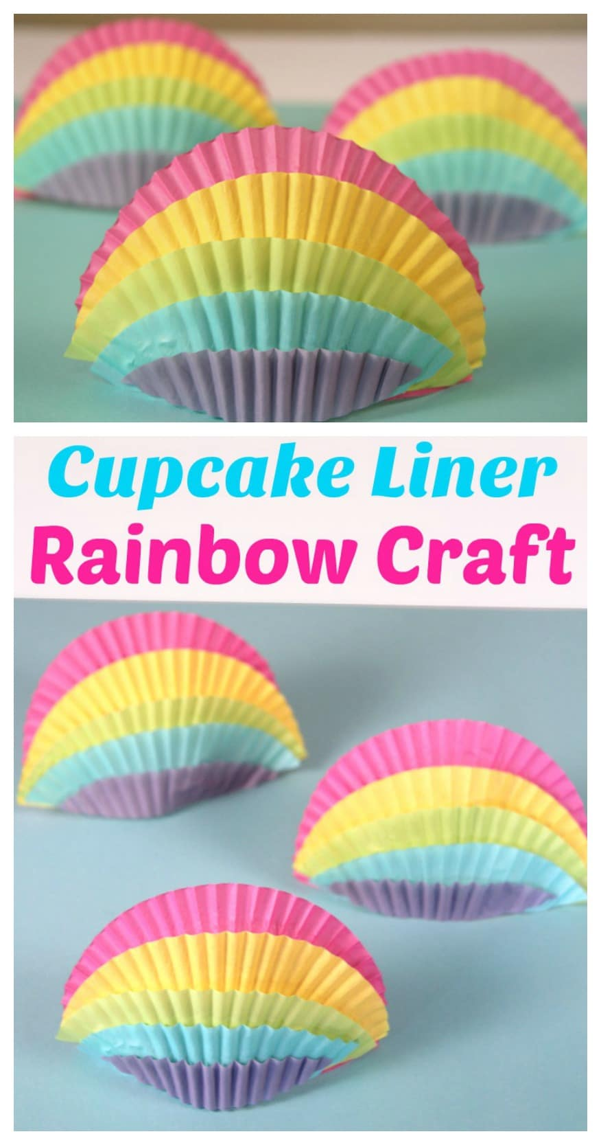 Cute Cupcake Liner Rainbow Craft for Kids.