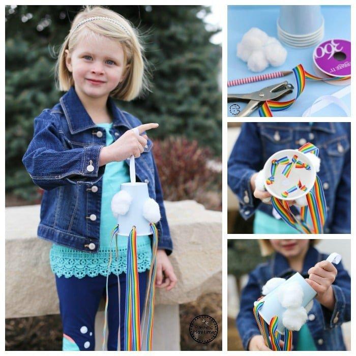 Cute Rainbow Windsock Craft for Kids