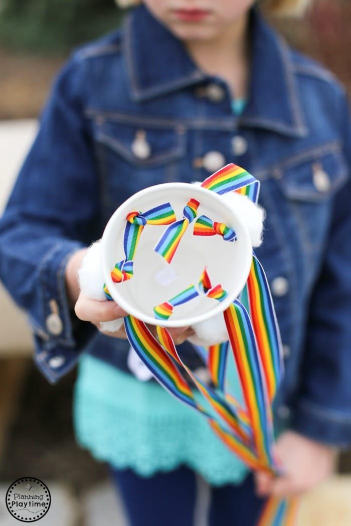 DIY Rainbow Windsock Craft for Kids