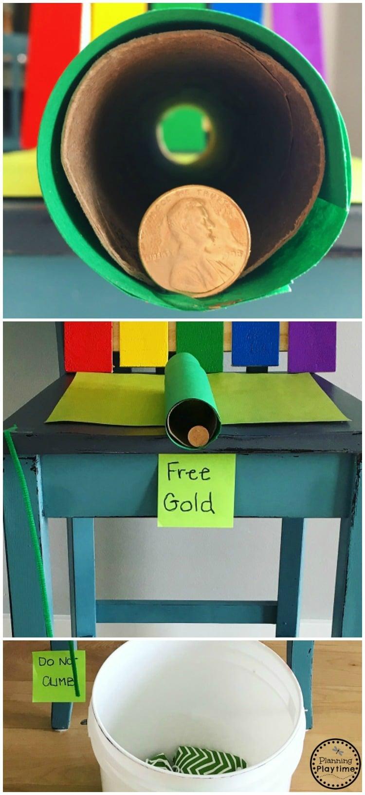 Easy Leprechaun Trap Idea for kids. So fun!