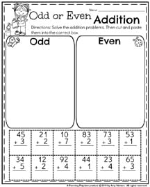 First Grade Addition Worksheets for May.