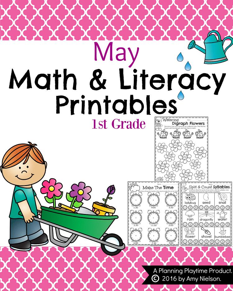 May First Grade Worksheets