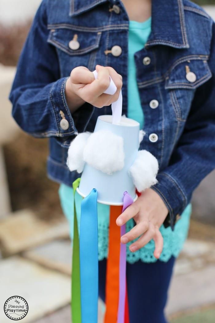 Fun Rainbow Windsock Craft for Kids