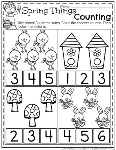 Spring Preschool Worksheets - Planning Playtime