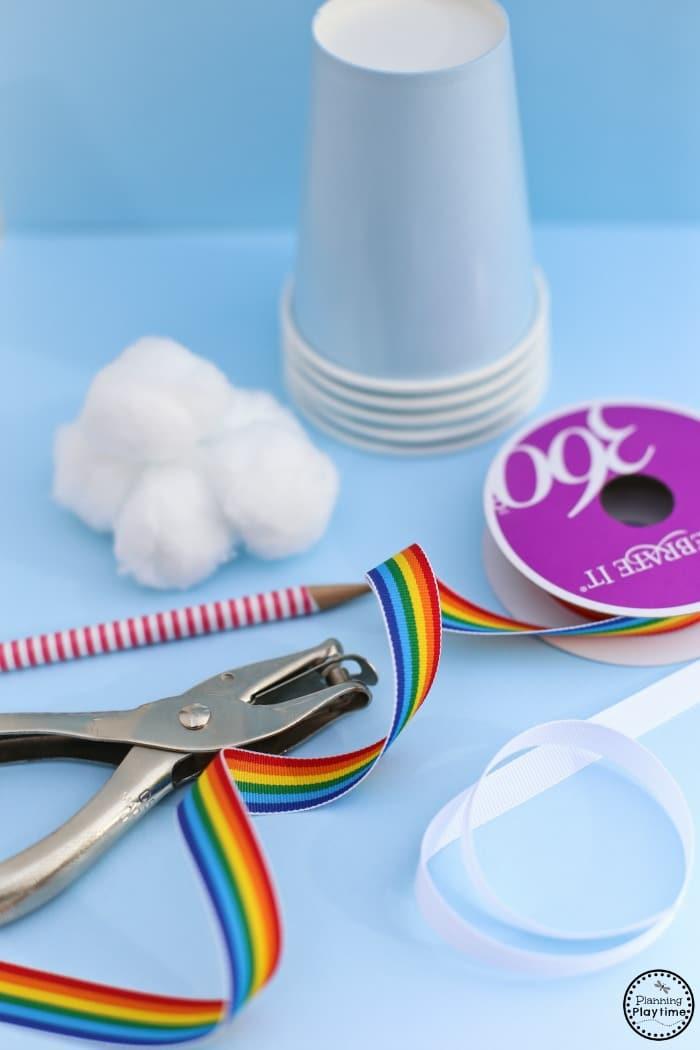 Rainbow Windsock Craft for Kids Supplies