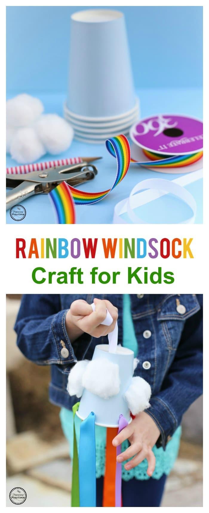 Rainbow Windsock Craft for Kids
