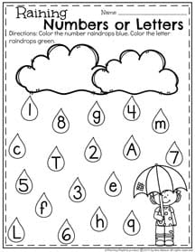 Raining Numbers and Letters