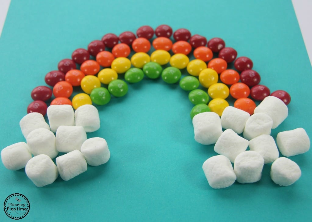 Skittle Rainbow Craft and Color Sorting Activities for kids. So fun!