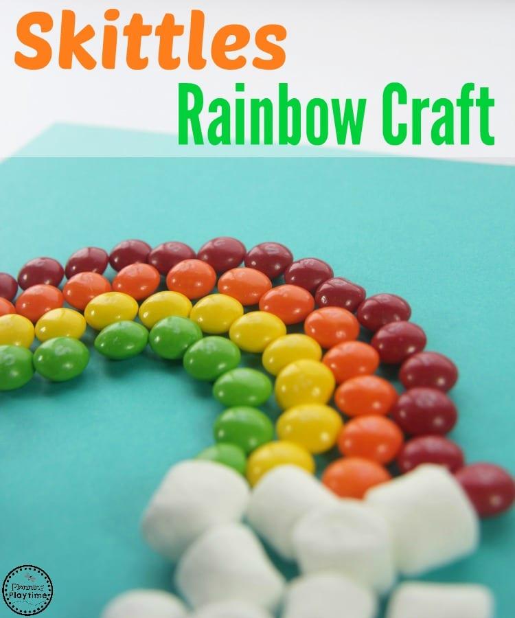 Skittles Rainbow Craft and Activity