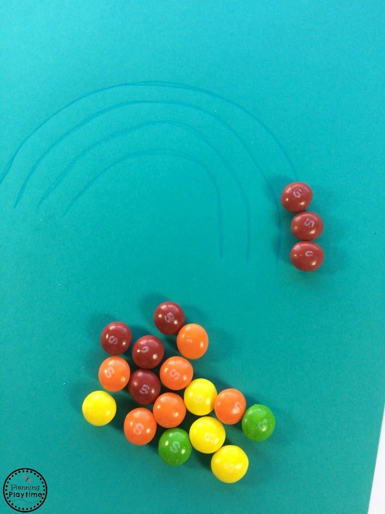 Skittles Rainbow Craft and Color Sort.