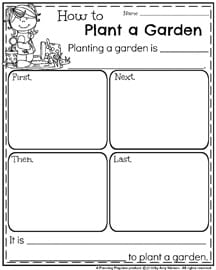 Spring Informational Writing Prompt - How to Plant a Garden.