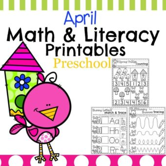Spring Preschool Worksheets - Math, Letter Recognition and more.