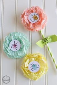 Cupcake Liner Flower Craft for kids - So Cute!!