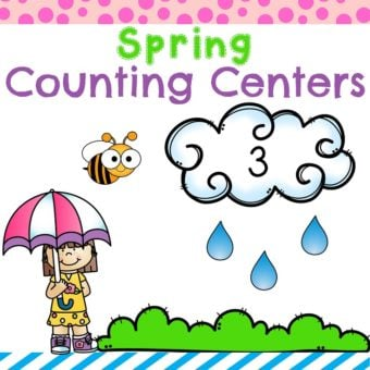 Cute Spring Counting Centers for Preschool