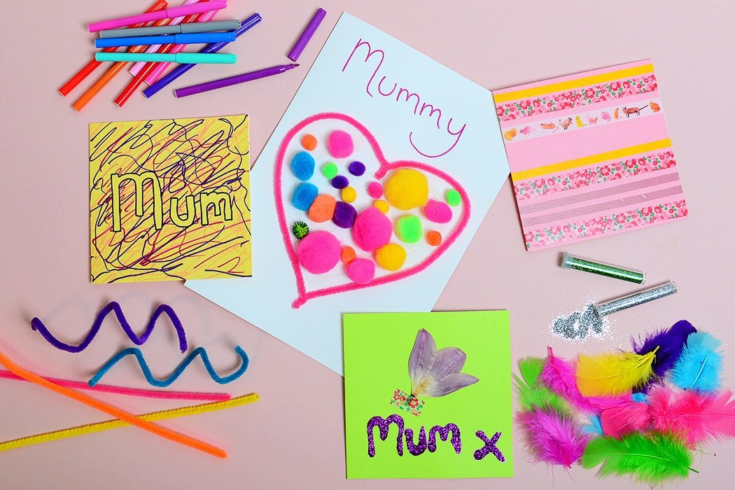 DIY Mother's Day Card ideas for kids to make.